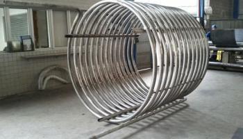 Curva de tubos